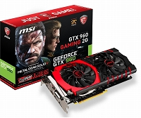 MSI社製 NVIDIA GeForce GTX960搭載ビデオカード GTX960 GAMING 2G MGSV