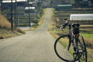 上り坂と自転車
