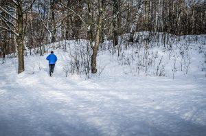 雪, ジョギング